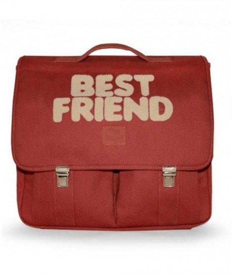 Cartable large pour enfant - Best Friend - Framboise - jojo factory - cartable primaire