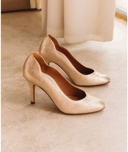 Escarpins Stella - Bobbies - champagne irisé - chaussure mariage - merci leonie