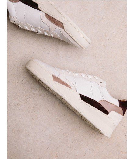 Sneakers Beverly - Bobbies - Bordeaux Taupe Glacé