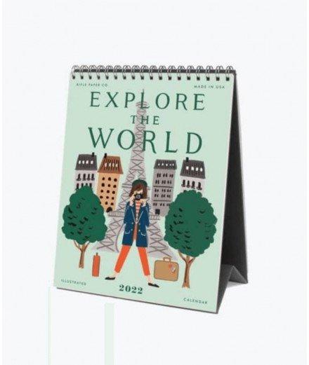 Calendrier de bureau 2022 - Explore the world