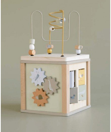 Nouveau cube d'activités en bois Little Goose de la marque de jouets pour enfants Little Dutch