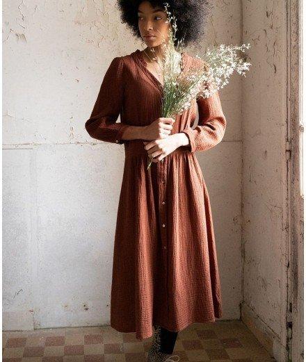 Robe chemisier en gaze de coton - Auburn - émile et ida - merci léonie