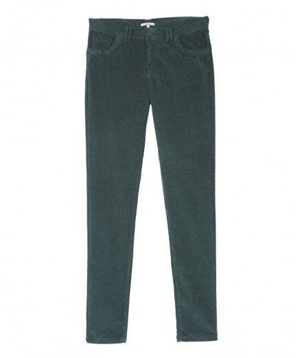 Pantalon slim en velours - vert forêt