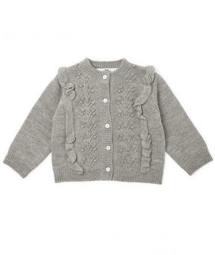 Gilet pour enfant en laine de mérinos Fiol de la marque scandinave Konges Slojd.