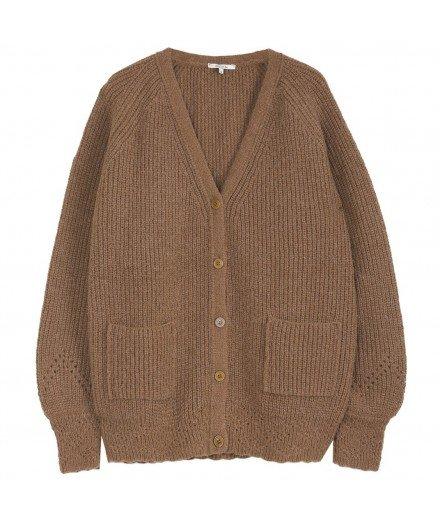 Gilet en laine mélangée - Châtaigne - grosse veste - émile et ida - merci léonie