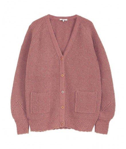 Gilet en laine mélangée - Rose - grosse veste - émile et ida - merci léonie