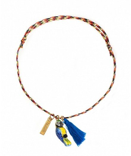 Bracelet fil torsadé charm's - Perroquet bleu - nach bijoux - merci leonie