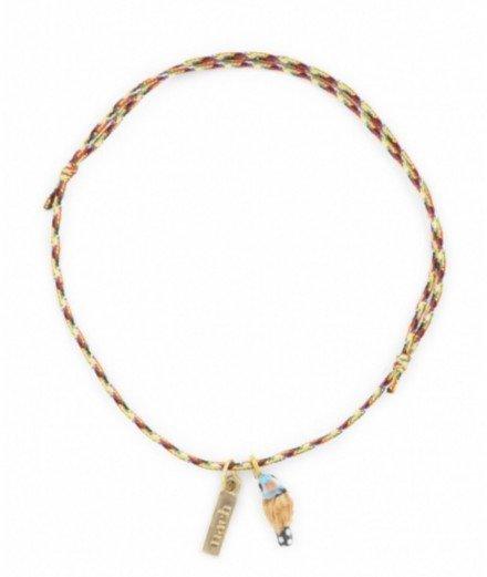 Bracelet fil torsadé charm's - Perruche - nach - merci léonie