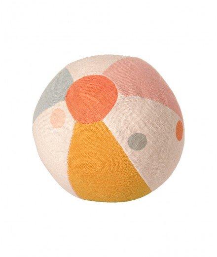 Petite balle avec grelot fabriquée en coton et en lin par la marque Maileg.