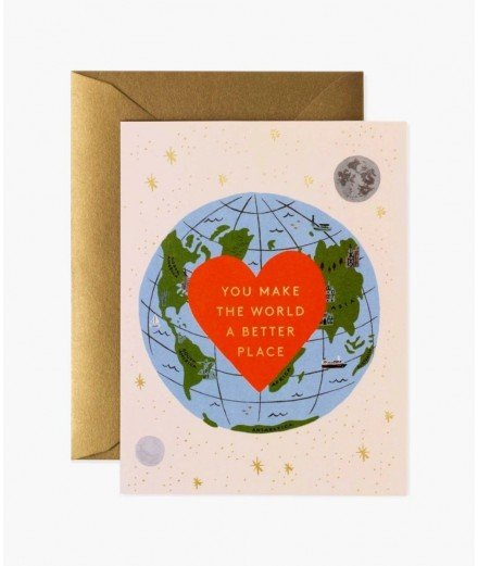 """Carte """"You make the world a better place"""""""