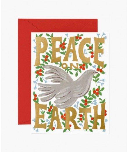 Carte de Noël - peace on earth Dove