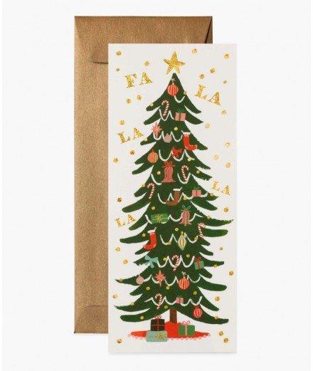 Grande Carte de voeux - Sapin de Noël Fa La La Tree