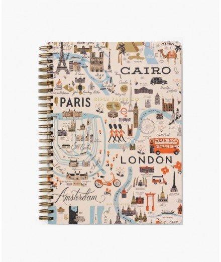 """Notebook à spirales """"Bon Voyage"""" de la marque de papeterie Rifle Paper Co."""