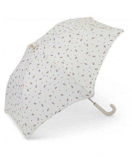 Parapluie pour enfant de la marque scandinave pour enfant Konges Slojd. Motif rétro composé de petites fleurs.