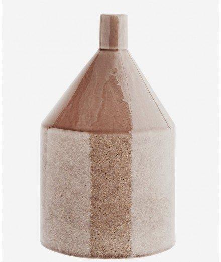 Grand vase en grès couleur caramel de la marque de décoration bohème Madam Stoltz.
