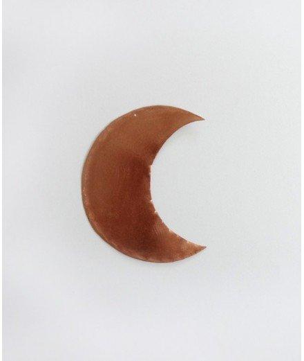 Petite lune en laiton à suspendre