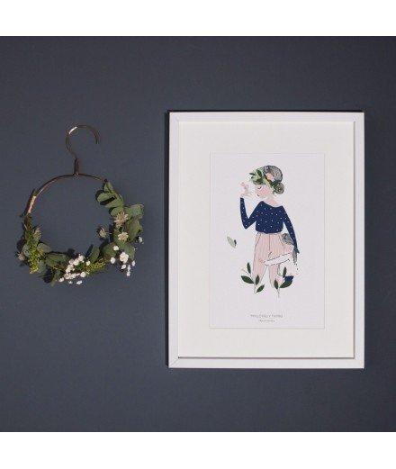 Affiche Adelaïde bleu - Format A4