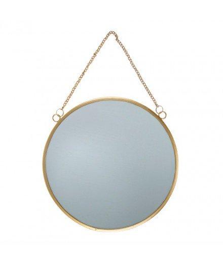 Miroir rond en métal