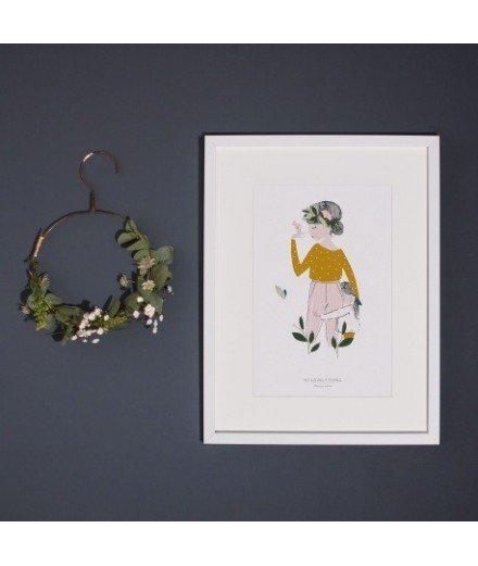 Affiche Adelaïde moutarde - Format A4