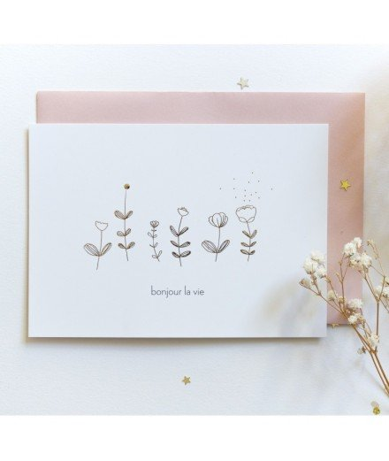 Carte postale Bonjour la vie