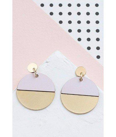 Boucles d'oreilles Circle - Rose pastel