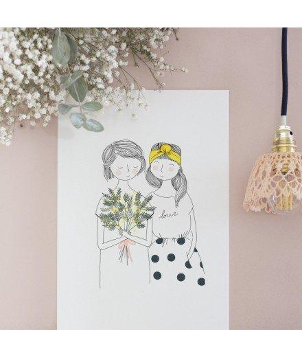 Affiche Soeurs Mimosa - Format A4