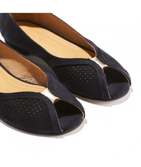 Sandales plates Tiffany - Marine