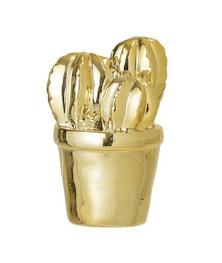 Cactus doré en céramique