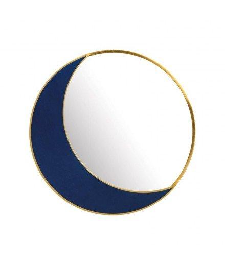 Miroir à poser Lune - bleu roy