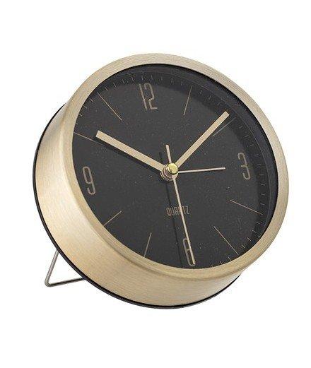 Horloge à poser - Métal et noir