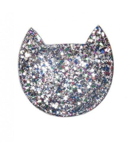 Porte monnaie Tête de chat et paillettes multicolores