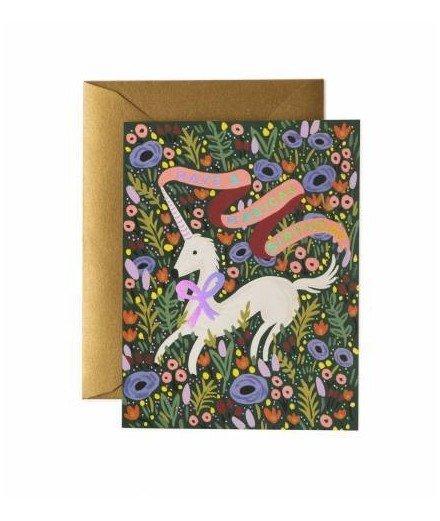 Carte double Magical Birthday - Licorne