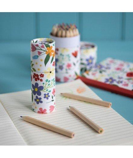 Boîte à crayons Fleurs