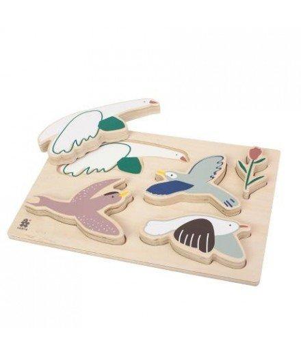 Puzzle en bois - Oiseaux