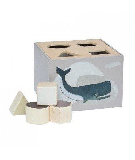 Boîte à formes en bois - Animaux de l'Arctique