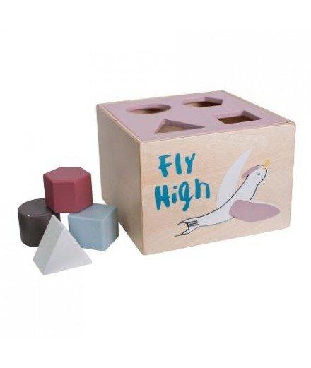Boîte à formes en bois - Oiseaux