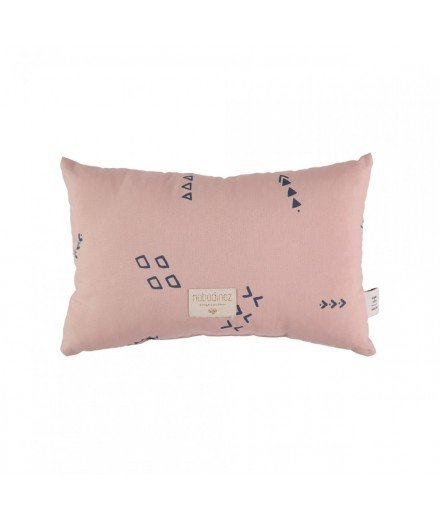 Coussin Laurel - Blue secrets - Misty Pink