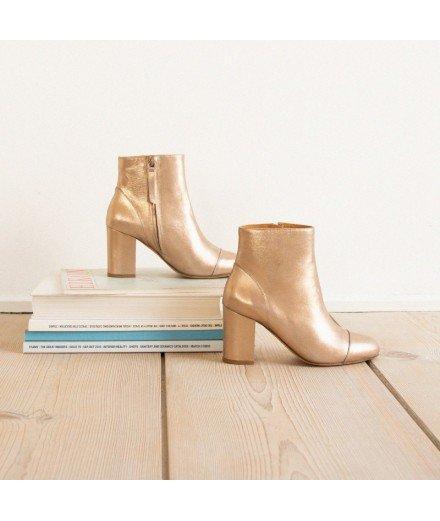 Boots La mystérieuse - Or cuivré