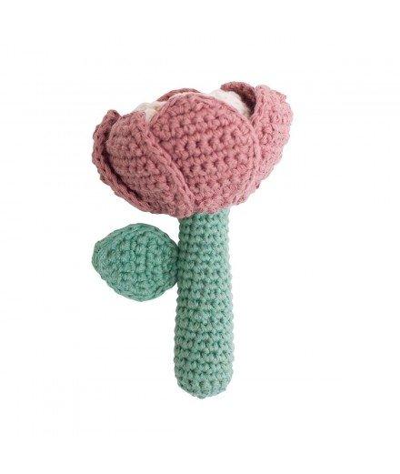 Hochet en crochet - Fleurs