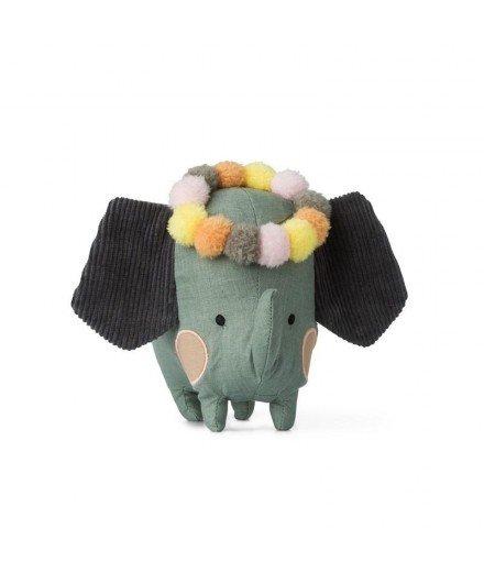 Peluche éléphant à pompons