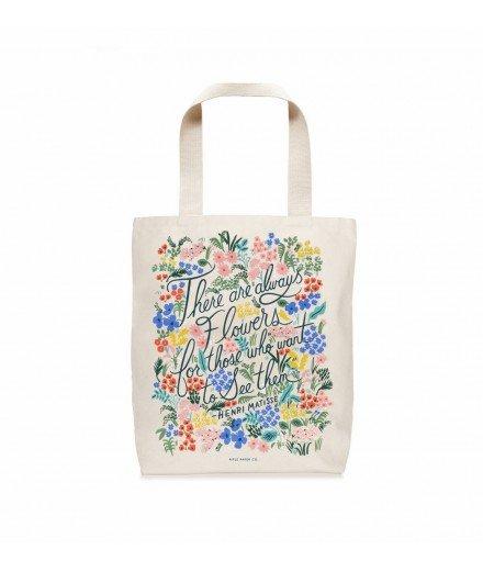 Tote bag Seeing Flowers