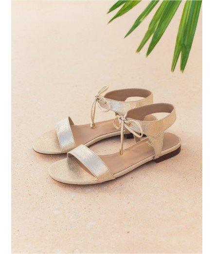 Sandales La Conquise - Or sablé