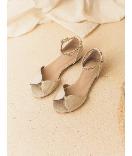 Sandales La Douce - Or sablé