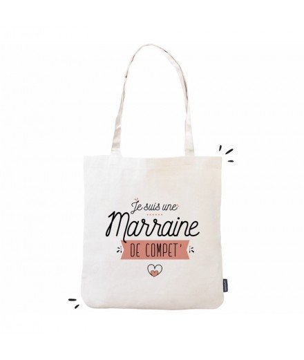 "Tote bag ""Marraine de compet"""