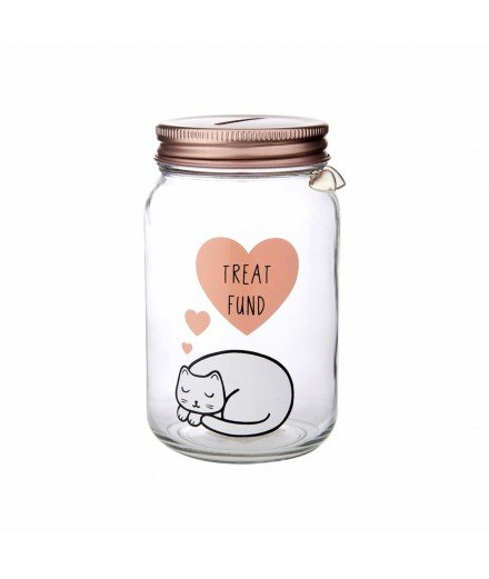 Tirelire Mason Jar Chat