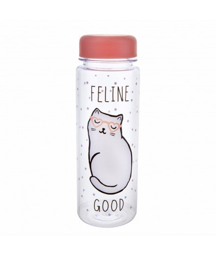 Bouteille chat blanc