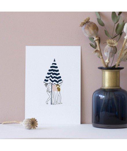 Carte postale Les petits secrets