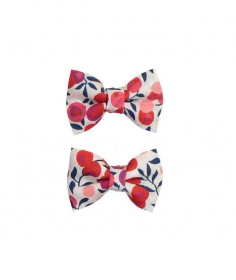 Mini barrette bébé - Liberty Wiltshire rouge
