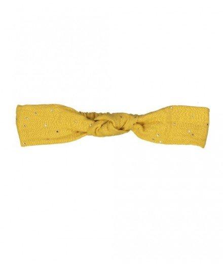 Mini bandeau bébé - Moutarde et pois or