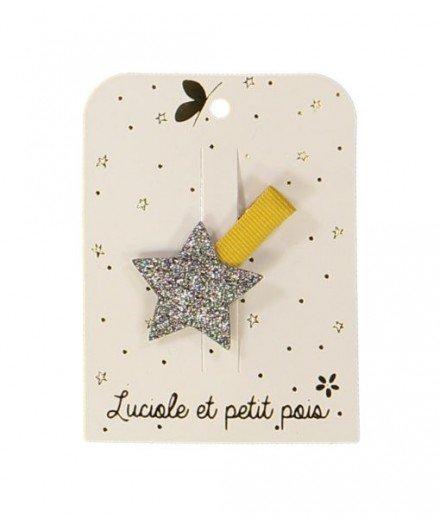 Mini barrette étoile - paillette - bronze